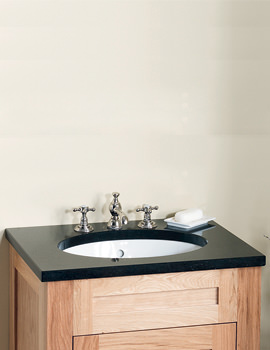 Related Silverdale Victorian Undermount Basin With Night Sky Black Granite Top