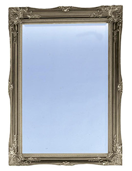 Balham Gilt Silver Wooden Framed Mirror 660 x 910mm