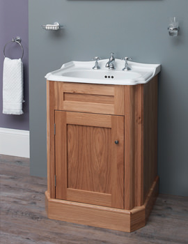 Balasani 600mm Single Door Light Oak Vanity Cabinet - BALCABLOK