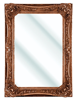 Bayswater Burnished Gold Wooden Framed Mirror 790 x 1090mm