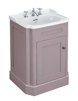 Balasani 600mm Single Door Plum Grey Vanity Cabinet - BALCABPLUM