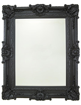 Chesham Grand Stone Black Polyurethane Framed Mirror 1420 x 2240mm