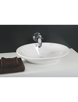 Related Silverdale Oxbridge 600mm Countertop Basin With Clicker Waste-SILOX601