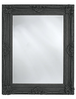 Chesham Stone Black Wooden Framed Mirror 990 x 1300mm