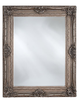 Chesham Vintage Silver Wooden Framed Mirror 990 x 1300mm