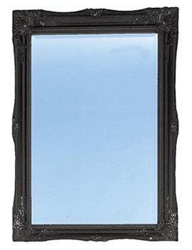 Heritage Balham Onyx Black Wooden Framed Mirror 660 x 910mm