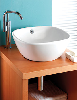 Ascot 370mm Countertop 0 Tap Hole Basin - SILAS602