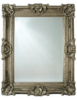 Chesham Grand Pewter Silver Polyurethane Framed Mirror 1420 x 2240