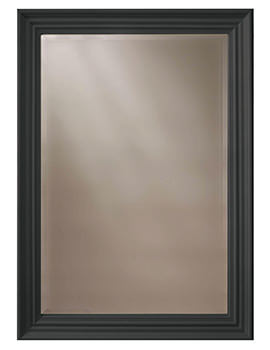 Edgeware Onyx Black Wooden Framed Mirror 660 x 910mm