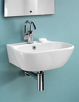 Ascot 450mm 1 Tap Hole Cloakroom Basin - SILAS645