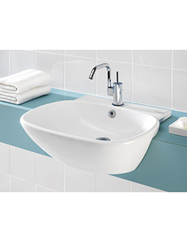 Ascot 550mm Semi-Countertop 1 Tap Hole Basin - SILAS603