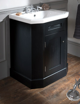 Empire 700mm Ebony Black Single Door Vanity Cabinet