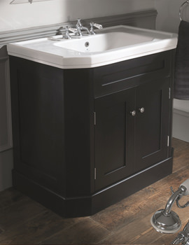Empire 920mm Ebony Black Double Door Vanity Cabinet