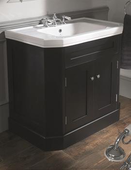Empire 920mm Ebony Black Double Door Vanity Cabinet