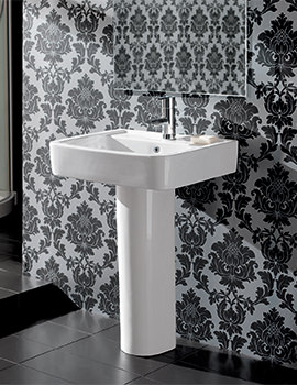 Silverdale Henley 550mm 1 Tap Hole Basin With Full Pedestal