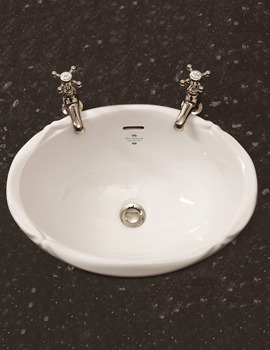 Victorian Inset Vanity White Basin - VCBASIN0WHIBL