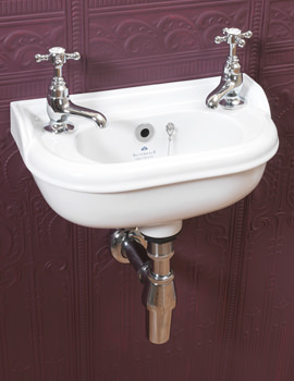 Victorian White 2 Tap Hole Micro Basin - VCBASMCWHIBL