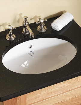 Silverdale Victorian 480mm Undermount Vanity Basin - VCBASUM0WHIBL