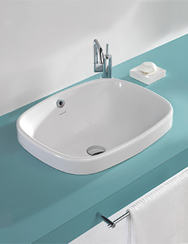 Ascot 550mm 0 Tap Hole Inset Vanity Basin - SILAS606