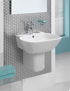 Silverdale Ascot 550mm Basin With Semi Pedestal - SILAS655