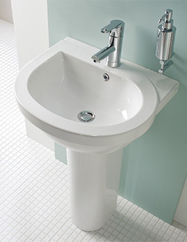 Richmond 500mm 1 Tap Hole Basin With Full Pedestal