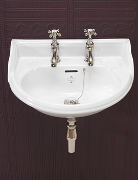 Silverdale Victorian White 2 Taphole Cloakroom Basin - VCBASCL2WHI