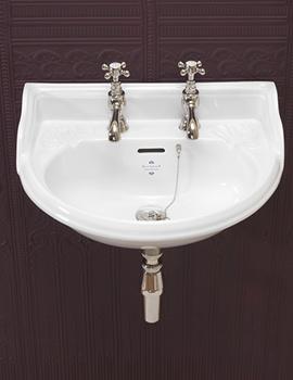 Belgravia White 2 Taphole Cloakroom Basin - VCBASCL2WHI