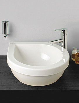 Richmond 440mm Teardrop Countertop Basin - SILRI602