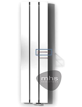 MHS Beams White Aluminium Designer Radiator 490 x 1800mm