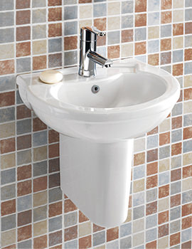 Thames 450mm 1 Tap Hole Cloakroom Basin - SILTH645