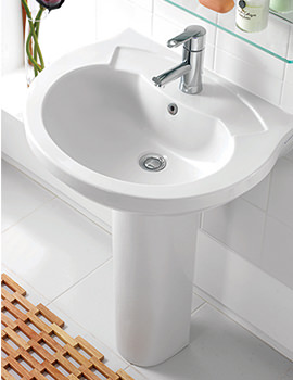 Thames 610mm 1 Tap Hole Basin - SILTH661
