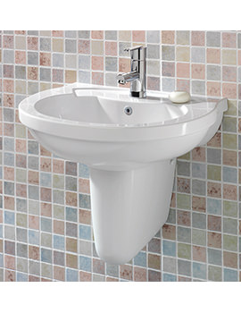 Silverdale Thames 560mm 1 Tap Hole Basin - SILTH656