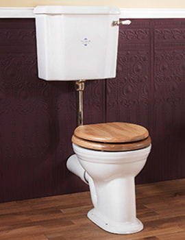 Victorian White Low Level Pan With Cistern And Fittings