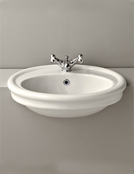Hillingdon 1 Taphole Semi Counter Top Basin - HIBASSCAWHIBL