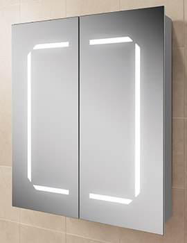 Related HIB Zephyr 60 Steam Free LED Back-Lit Aluminium Mirrored Cabinet 600 x 700mm