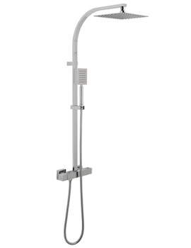 Aquablade Square Thermostatic Shower Valve With Rigid Riser Kit