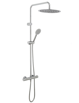 Aquablade Round Thermostatic Shower Valve With Rigid Riser Kit