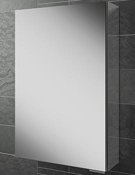 Eris 40 Single Door Aluminium Mirrored Cabinet 400 x 600mm