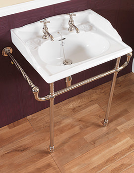 Silverdale Victorian Classic Basin With Stand - Heated Towel Rail Chrome