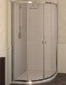Aqualux Aqua 4 Quadrant Shower Enclosure 800 x 800mm White