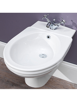 Balasani Old English White Wall Mounted Bidet - BSBIDWMOEW