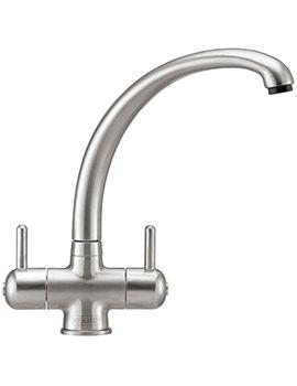 Zurich Kitchen Sink Mixer Tap SilkSteel - 115.0061.579