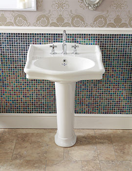 Silverdale Hillingdon 650mm Console Basin With Full Pedestal