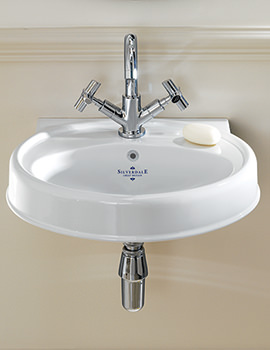 Related Silverdale Highgrove 1 Taphole Cloakroom Basin - HGBASCLAWHIBL