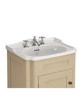 Balasani White 3 Taphole 600mm Inset Vanity Basin