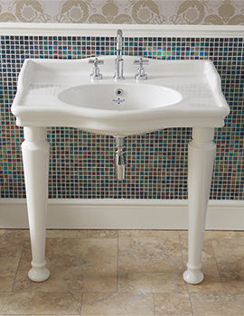 Hillingdon 860mm 3 Taphole Console Basin With Leg Set