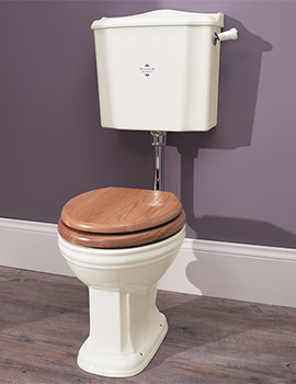 Balasani Old English White Low Level WC Pan With Cistern