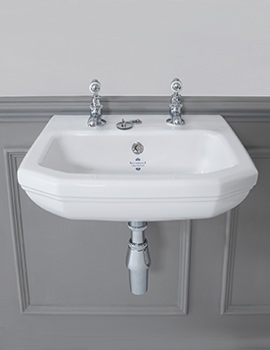Empire 450mm 1 Taphole Cloakroom Basin - EMBAS45AWHIBL