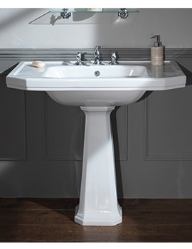 Empire 920mm 3 Taphole Console Basin - EMBAS92HWHIBL