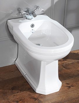 Empire Back To Wall 1 Taphole Bidet - EMBID1THWHIBL
